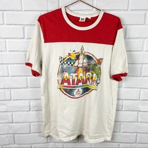 FLAWS Junk Food Atari graphic tee 70s style Large